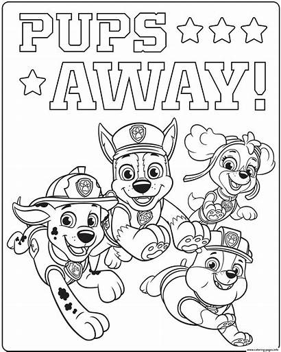 Patrol Coloring Pages Pups Paw Mighty Rescue
