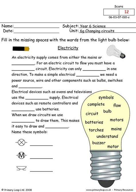 year  science printable resources  worksheets