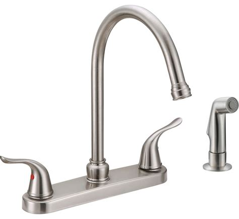 ez flo two handle kitchen faucet kitchen faucets houzz