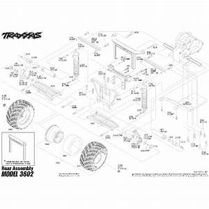 Traxxas Monster Jam Replicas   3602  Rear Assembly Diagram