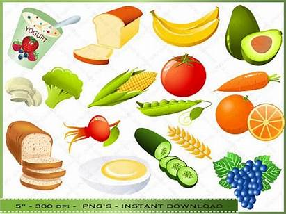 Clip Healthy Clipart Foods Snacks Nutritious Snack