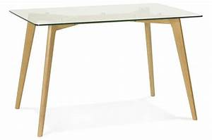 Table A Manger En Verre Pas Cher : table manger rectangulaire avec plateau en verre pieds bois fiord table manger pas cher ~ Melissatoandfro.com Idées de Décoration