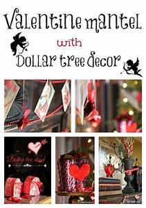 Vintage whimsical Valentine mantel Dollar tree decor