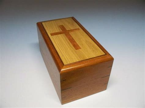 religious cherry cross urn cremation urn memorial urn