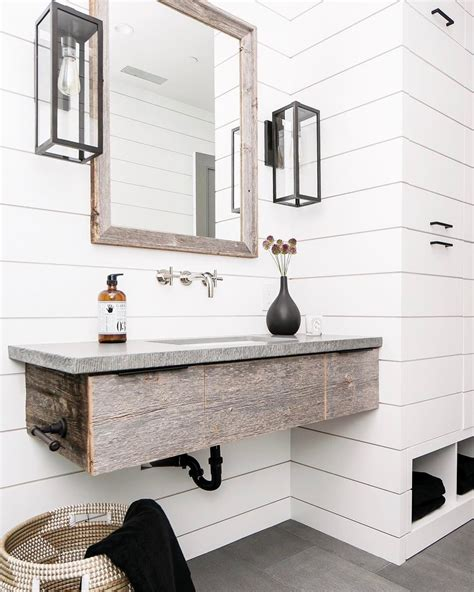 White Shiplap Bathroom by Rustic Bathroom With White Shiplap B A T H R O O M S