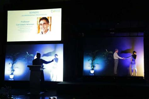 Ntu Conference Treated To Live Holographic Lecture
