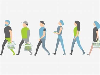 Shopping Walking Animated Gifer