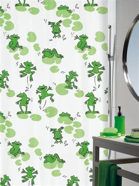 frog shower curtain spirella frog textile shower curtain clevershower