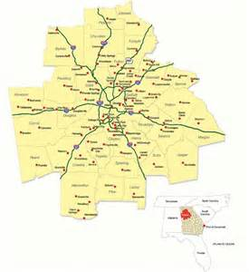 Metro Atlanta Counties Map