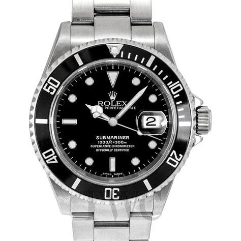 16610 Black Rolex Submariner