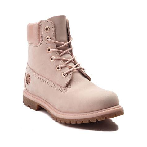 light pink timberlands womens timberland 6 metallic collar premium boot pink