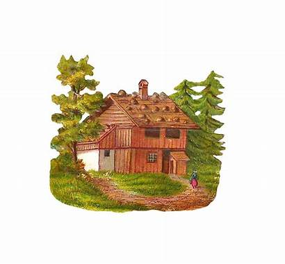 Cabin Clip Clipart Log Woods Graphic Forest