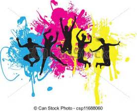 Clip Art Vector of jumpers - jumping background ...
