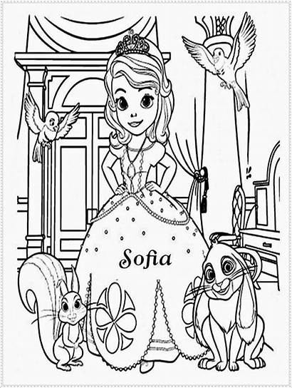 Mewarnai Gambar Sofia Putri Princess Coloring Sketsa