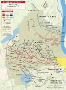 Civil War Shiloh Battle Map