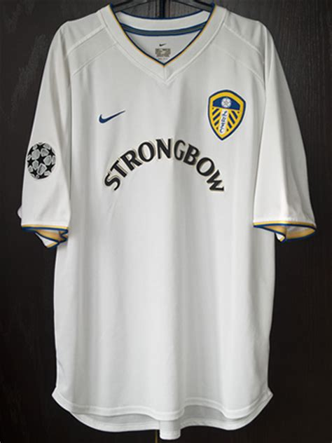 leeds united match worn   champions league