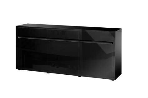 High Gloss Sideboards Uk by Urbana Black High Gloss Sideboard 3 Door 3 Drawer Fads
