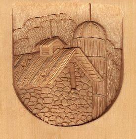landscape relief wood carving    irish lsirishcom