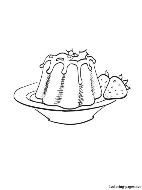 pudding coloring page coloring pages