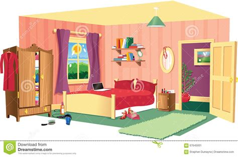 Room Clipart Bedroom Scene  Pencil And In Color Room