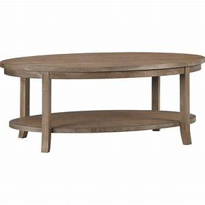 Blake grey wash oval coffee table crate and barrel for Grey oval coffee table