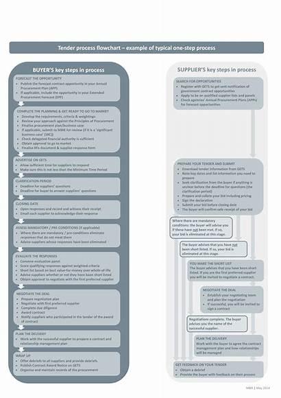 Process Flow Chart Procurement Tender Example Template