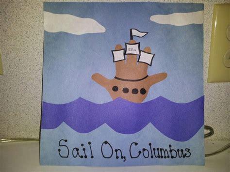 Christopher Columbus Boat Jesus by Sail On Columbus Handprint Boat Kids Crafts