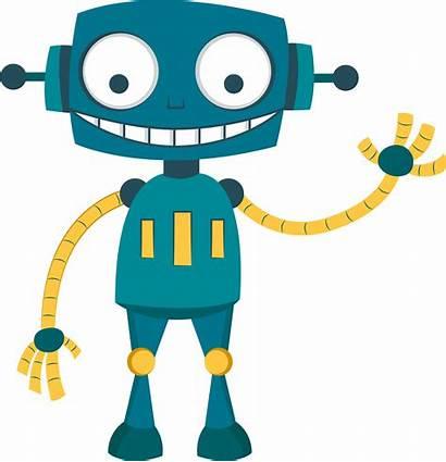 Robot Clipart Vector Robotics Happy Icon Transparent