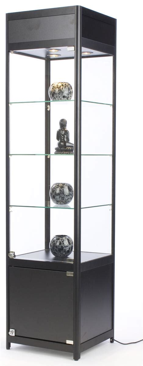 locking curio cabinet glass cabinet with lock frameless design 3835