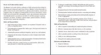 assistant description for doctor health care