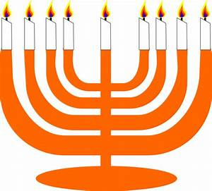 Clipart - Simple Menorah For Hanukkah