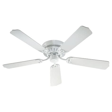 hugger ceiling fan without light quorum lighting hugger white ceiling fan without light