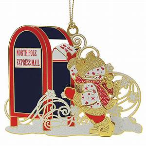 letters to santa ornament chemart ornaments solid With gold letter christmas ornaments