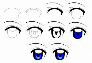 How To Draw Anime Eyes Step By Step Female - Drawings ...