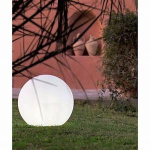 Boule Lumineuse Exterieur Solaire : boule d corative ext rieure buly 40 cm e27 blanc newgarden ~ Edinachiropracticcenter.com Idées de Décoration