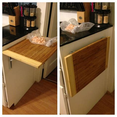 I needed more counter space, so I bought an L  hinge from