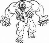Marvel Coloring Pages Venom sketch template