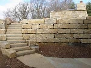 Large Block Limestone Retaining Wall - But prefer non ...