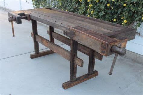 antique wood woodworking carpenters work bench