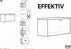 Ikea Effektiv Wall Cabinet Frame Low 33 1 2 Assembly