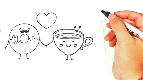 como dibujar unos enamorados dibujos de amor dibujos romanticos youtube