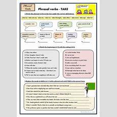 Phrasal Verbs  Take Worksheet  Free Esl Printable Worksheets Made By Teachers