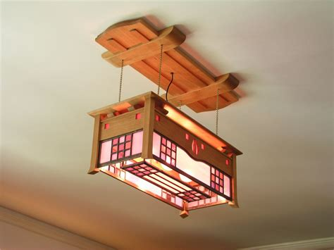 stained glass light box mackintosh ceiling light stained glass arts and crafts