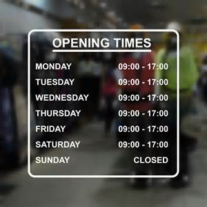 shop office or business opening times sign large 40x40cm window door sign ebay