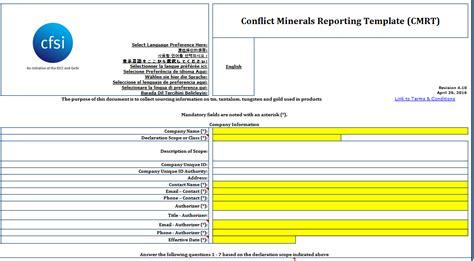 conflict minerals reporting template flex conflict minerals
