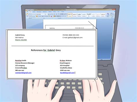 Do Resumes Include References by The Best Way To References On A Resume With Sles Wikihow