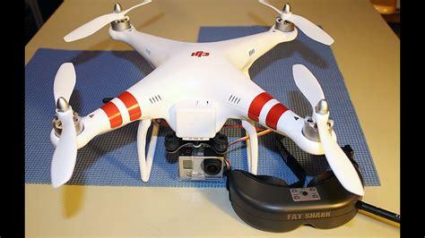 installing fat shark predator fpv goggles  dji phantom quadcopter  gopro hero  camera