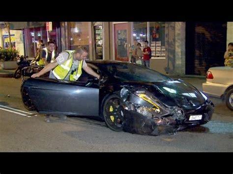 lamborghini taxi collide  pyrmont  costly car