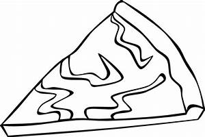 Cheese Pizza Slice (b And W) Clip Art at Clker.com ...