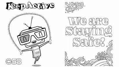 Signs Support Covid During Coloring Pages Messages